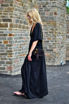 black maxi dress. It seems as if millennials also prefer casual attire because they don't separate their personal and professional lives in the same way that baby boomers do.