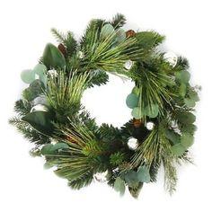 Pine with Magnolia Leaf Wreath (22