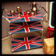 Union Jack painted cart.