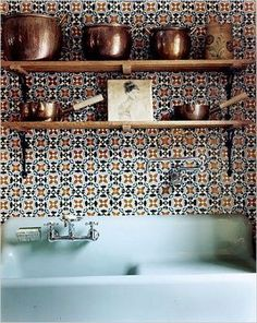 Oh my goodness, I love this sink! like the shelves too, but I'd need more