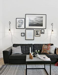 Dobson Black Leather Modern Sectional Sofa by Baxton Studio ...