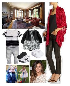 """""""Spending the day at home with George and Charlotte"""" by duchessamparo ❤ liked on Polyvore featuring Anna Sui, Bardot Junior and adidas Originals"""