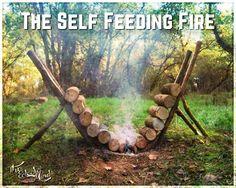 Self feeding fire.