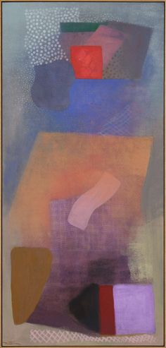 Robert Natkin (1930-2010), Jewish Angel (1992), acrylic on canvas, 88 x 187 cm. Via 1stdibs.