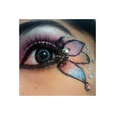 25 Of The Craziest Eyeshadow Designs Ever ❤ liked on Polyvore featuring beauty products, makeup, eye makeup, eyeshadow, eyes and beauty