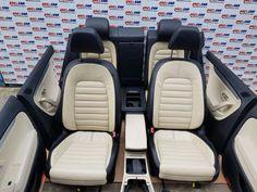 Interior din piele crem+negru complet VW Passat CC 2008-2016