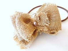 Burlap Headband Farmhouse Rustic Inspired Bow by CandiLovesPaper, $8.00