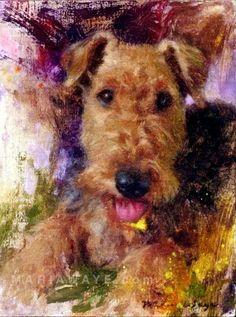 Aangepaste hond portret olieverf schilderij huisdier door MariaWaye
