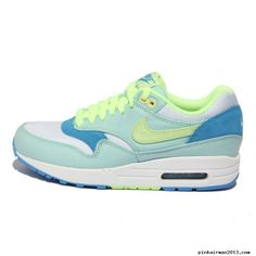 huge discount 897df f2ecc Womens Nike Air Max 1 Julep Liquid Lime Coast White Shoes Nike Air Max For  Women