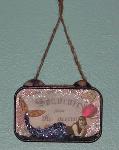 Souvenir from the Ocean 3D Mermaid - Altoid Tin Altered Art Mixed Media Collage by chaoticartworks
