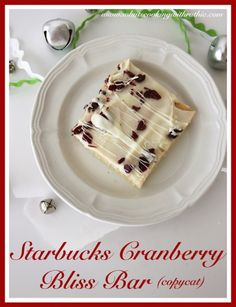 Starbucks Cranberry Bliss Bar (copycat) is such a wonderful combination of Cranberries and White Chocolate nestled up together! by whatscookingwithruthie.com #recipes #desserts #cranberry