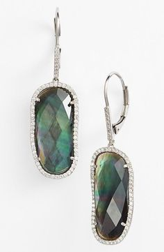 Gorgeous colors in these mother-of-pearl earrings