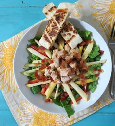 Barbecue Chicken Apple Salad from @Peanut Butter and Peppers | Menus Kitchen PLAY