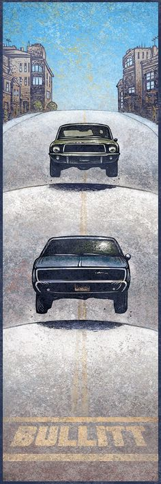 35 Super Ideas For Cars Movie Illustration Mustang Fastback, Ford Mustang Gt, Mustang Bullitt, Dodge Charger, Car Illustration, Illustrations, Alternative Movie Posters, Car Drawings, Automotive Art