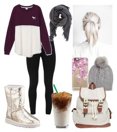 """""""Winter Casual"""" by kaleyyy00 ❤ liked on Polyvore featuring Peace of Cloth, Victoria's Secret, Casetify, Isabel Marant, UGG Australia and Wet Seal"""