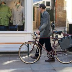 Suited Cyclist