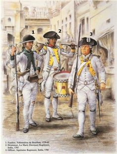 The French Regiments in the American War of Independence American Revolutionary War, American Civil War, American History, Independence War, American Independence, Military Art, Military History, Independencia Usa, French Armed Forces