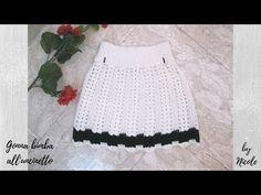 Gonna bimba all'uncinetto per tutte le taglie - Crochet baby skirt - YouTube
