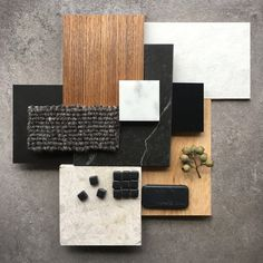 The back wall could be a plaster that looks like concrete Mood Board Interior, Interior Design Boards, Interior Design Inspiration, Material Board, Design Palette, Color Pallets, Colour Schemes, Colorful Interiors, Interior And Exterior