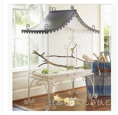Continental European-style wrought iron aviary bird cage floor houses a large birdcage aviculture photographic supplies(China (Mainland))