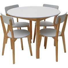 Buy Hygena Rye White Dining Table And 4 Chairs At Argos Co Uk