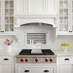 Backsplash Storage Niche Kitchen Vent Hood, Kitchen Stove, Kitchen Redo, Kitchen Remodel, Kitchen Ideas, Kitchen Cooker, Kitchen Updates, Kitchen Renovations, Kitchen Tiles Design