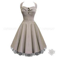 LaFrock's  Black Gingham Audrey Hepburn Prom Dress - :)