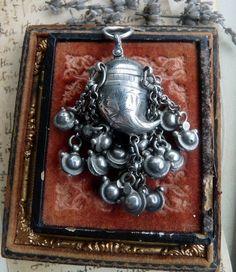 Antique Victorian Tribal Cornucopia Cornicello Horn Fang Talisman Amulet Fob Viniagrette, offered by RusticGypsyCreations by RusticGypsyCreations on Etsy https://www.etsy.com/listing/165376100/antique-victorian-tribal-cornucopia