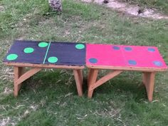 loose parts play repurposes stools as dominoes! From #PlaytimeinAfrica
