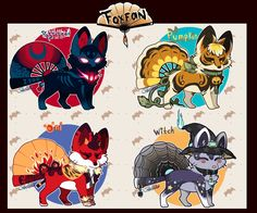 Foxfan are an Original Closed Species by us, to learn more about the species go here: A halloween Batch!! yay!! this one have extras, please read ;D Auction Rules ::::::: READ BEFORE YO...
