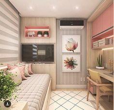 The War Against Trendy Bedroom Drape Style Concepts - lowesbyte Small Room Bedroom, Trendy Bedroom, Girls Bedroom, Bedroom Decor, Bedrooms, Bedroom Ideas, Girl Rooms, Bedroom Bed, Narrow Bedroom