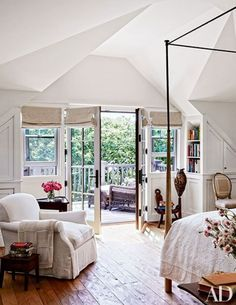 Sir Evelyn and Lady de Rothschild's House on Martha's Vineyard - Architectural Digest Architectural Digest, Dream Bedroom, Home Bedroom, Bedroom Decor, Master Bedrooms, Airy Bedroom, Serene Bedroom, Home Design, Patio Design