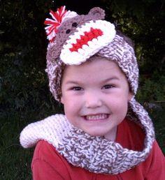 Monkey Band - $3.99 by Heidi Yates of Snappy Tots / Sock Monkeys Part 2 - Animal Crochet Pattern Round Up - Rebeckah's Treasures