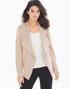 Soma French Terry Zipper Detail Jacket Heather Gold, Size: S, Heather Gold Fashion Essentials, Style Essentials, Stitch Fix Stylist, Easy Wear, French Terry, Boho Dress, Fashion Dresses, Blazer, My Style