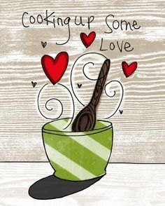 cooking up love- i heart kitchens series. $24.00, via Etsy.