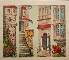 Schreiber -Castle Yard side scenes