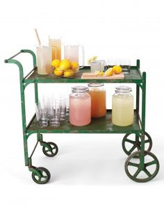 Get inspired to include a bar cart at your wedding with one of these custom ideas.