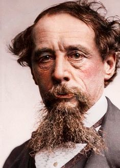 Charles Dickens in colour c. 1860s Original... Getty Images