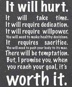 Your hard work will soon pay off!! keep your eye on your goals! Never stop! http://facebook.com/tharperfitnessmotivation