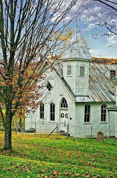 Glady Presbyterian Church, Glady, West Virginia |  photo by Steve Harrington    http://fineartamerica.com/featured/glady-presbyterian-steve-harrington.html