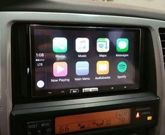 Alpine In-Dash receiver with Apple CarPlay installed in a 06 Toyota 4-Runner!  The innovative iLX-007 In-Dash System with Apple CarPlay brings you a smarter way to use your iPhone on the road. Apple CarPlay gives iPhone users an incredibly intuitive way to make calls, use Maps, and listen to music and access messages with just a word or a touch. When using Apple CarPlay on this receiver, users can control Apple CarPlay from the 7-inch screen or activate Siri for minimized distraction.