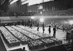 1,500 bags of groceries were distributed by the Black Panther Party during a Black Community Survival Conference at the Henry J. Kaiser Convention Center, March 31, 1972  — in Oakland, California.   Photo credit: Oakland Tribune Staff Archives