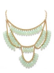 Mint Fanfare Necklace