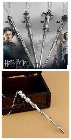 If you are a fan of Harry Potter, you'll love this Harry Potter Magic Wand Pendant Necklace for a mystery Harry Potter outfits ideas.