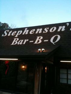 Stephenson's Bar-B-Q - The best barbque in NC.