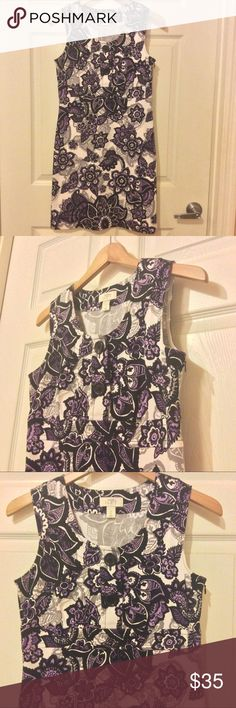 LOFT Dress ❤️ I love the colors and collar design so much 😍. Both buttons can be undone for a more open relaxed look. Material is very well made & soft. Material pattern is gorgeous too! & very unique in my opinion. Shown up close in last photo. Perfect condition- looks like it's never been worn. I got this from my Mom's closet- she has a very beneficial shopping hobby. Lol she's approved the sale, don't worry 😋. Bundle to save; let me know whenever you're ready for me to send you a…