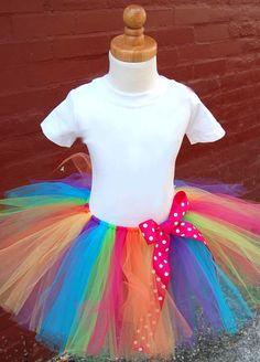 Rainbow Circus Carnival Tutu