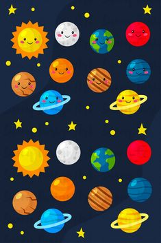 Space Drawings, Space Artwork, Colorful Drawings, Art Drawings, Solar System Crafts, Solar System Art, Space Theme Preschool, Planet Drawing, Funny Emoji Faces