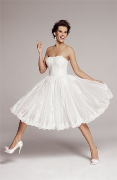 Ted Baker London 'Raul' Strapless Tulle Fit & Flare Dress | #Nordstrom #weddings