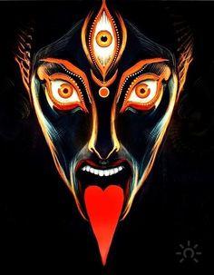 Medusa Kunst, Medusa Art, Alex Gray Art, Mother Kali, Blackwork, Apocalypse Art, Art Tribal, Kali Goddess, Occult Art